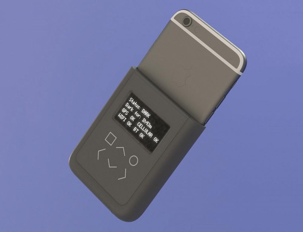 Il rendering del case per iPhone 6 progettato da Huang e Snowden.