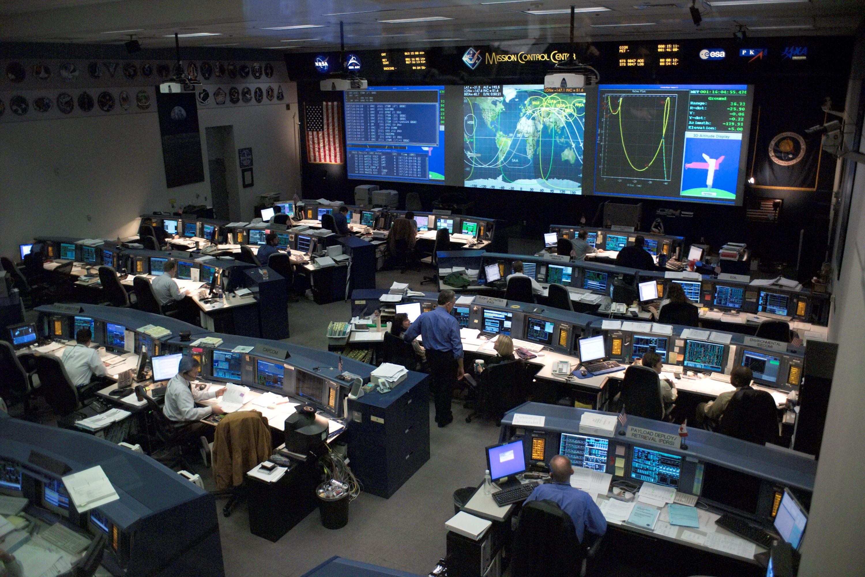 Il mission control center del Johnson Space Center di Huston.