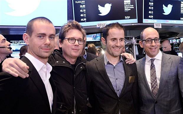 Twitter fu fondata Jack Dorsey, Evan Williams, Biz Stone e Noah Glass nel 2006.