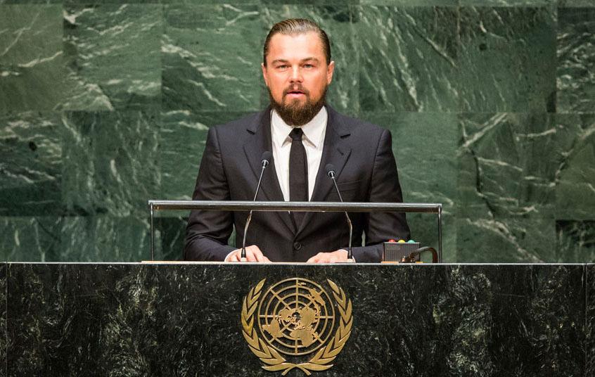 DiCaprio alle Nazione Unite aprì il summit sul clima, nel 2014